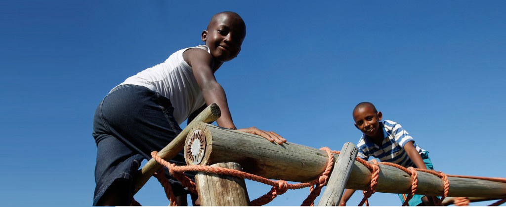 Boys On The Obstacle Course