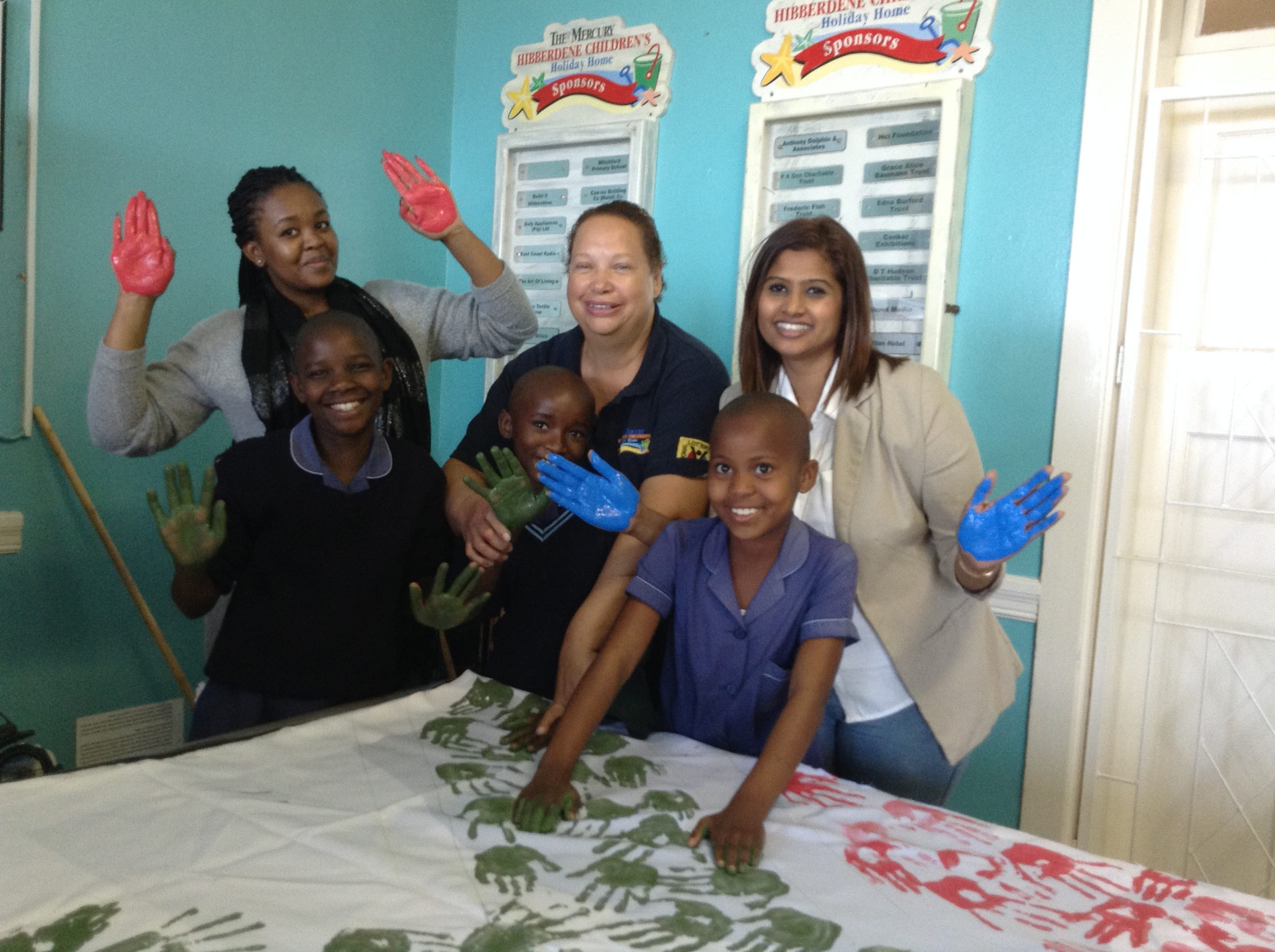 Painting The South African Flag