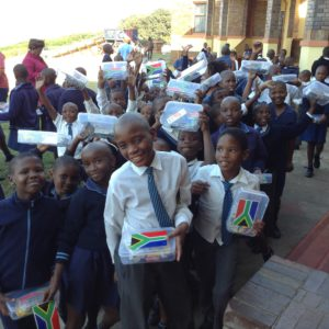 Receiving Their Lunchboxes Sponsored By SAPREF